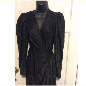 Andrea Odicini Dresses - Andrea Odicini Vintage Black Silk Dress